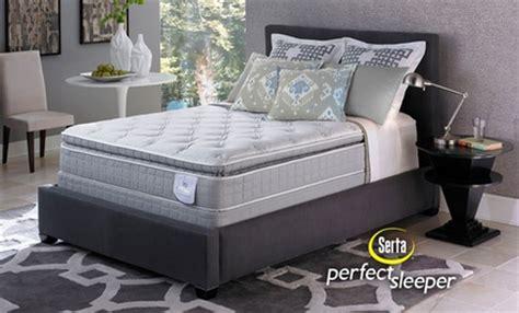 serta sleeper pillow top mattress sets deal