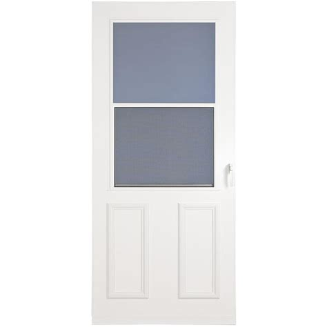 Mobile Home Doors At Lowes by Shop Larson Villager White High View Wood Door