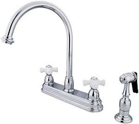 White Porcelain Faucet Handles by Bar Harbor Handle Kitchen Faucet With White