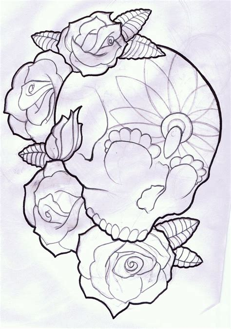 rose tattoo stencil free collection of 25 butterfly skull and stencil
