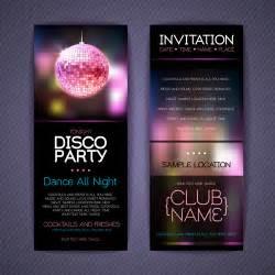 disco invitation cards creative vector free vector in encapsulated postscript eps eps