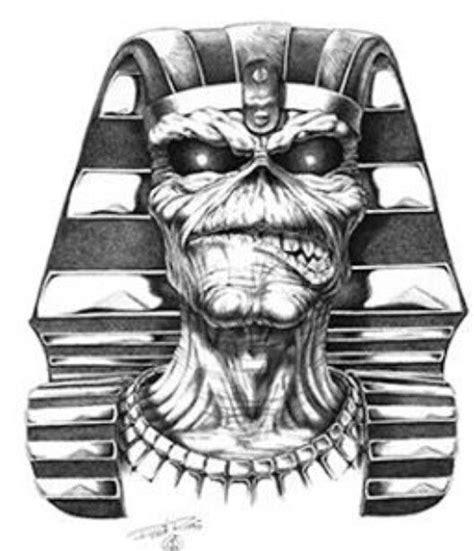 eddie eagle coloring page powerslave pharaoh eddie iron maiden eddie drawings