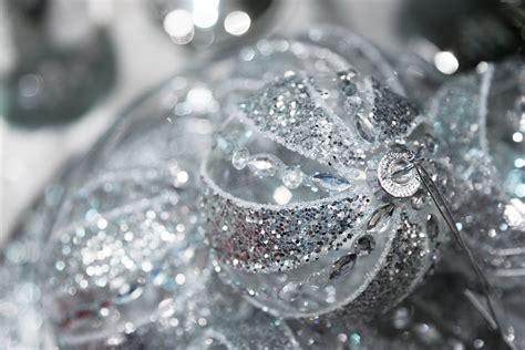 silver christmas balls free stock photo public domain