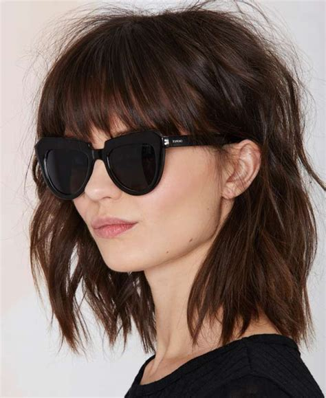 Hairstyles With Bangs 2016 by Beautiful Lob Shaggy Hairstyles With Bangs 2015 2016