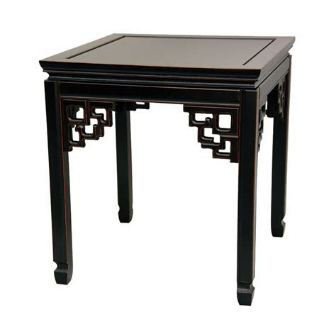 Black Accent Table Shop Furniture Rosewood Furniture Antique Black Square End Table At Lowes