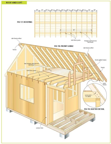Free Cabin Blueprints Cottage Bunkie Plans Studio Design Gallery Best Design
