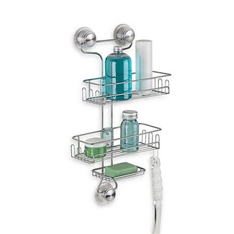 shower caddy bed bath beyond interdesign 174 power lock ultra 3 tier shower caddy in