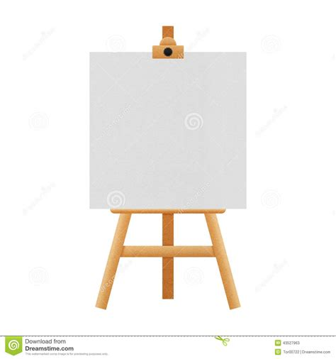 How To Make A Paper Easel - easel stand isolated for paintings in exhibition of paper