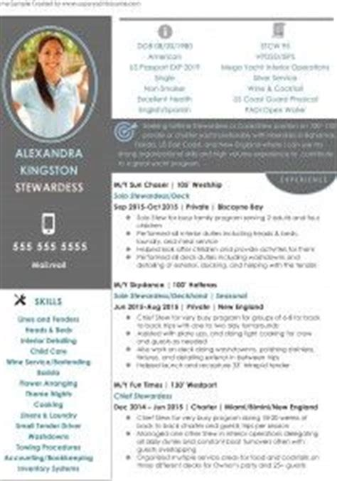 Reference Letter Yacht Stewardess Stewardess Resume Sle 1 And Tips For Yacht Crew And Flight Attendants