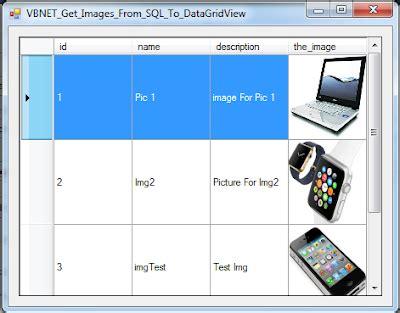 vb.net get database images into datagridview c#, java