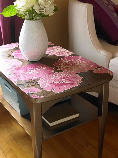 Decoupage Furniture With Wallpaper - 18 ideas para decorar con papel para empapelar