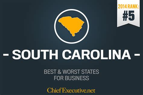 Top Mba Programs In Sc by South Carolina Is 5th Best State For Business 2014