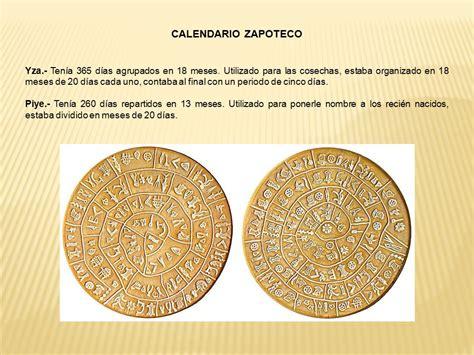 Calendario Zapoteca Esc Sec Gral Faustino Salazar Garcia Ppt Descargar