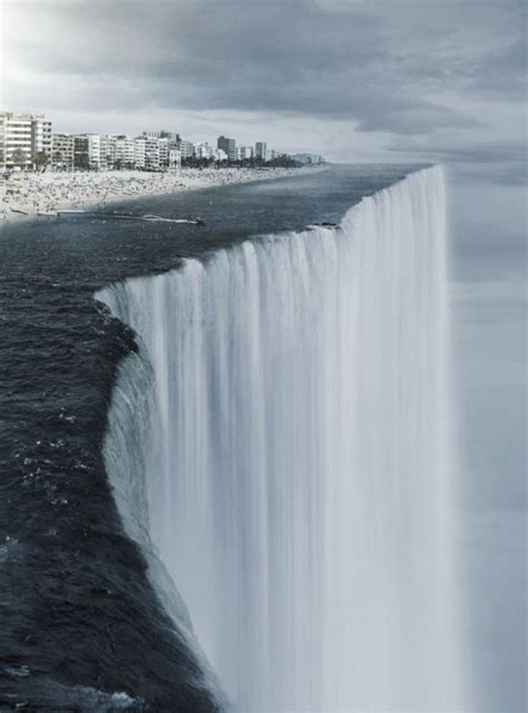 at the edge of a flat world portraits and revelations books dangerous waterfall fantastic scary