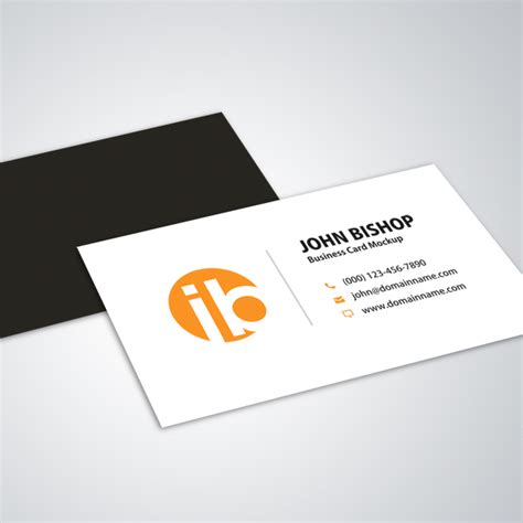 simple business card templates modern simple business card mockup design vector