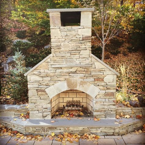 Veneer Outdoor Fireplace by 36 Quot Standard Outdoor Fireplace With Finished With