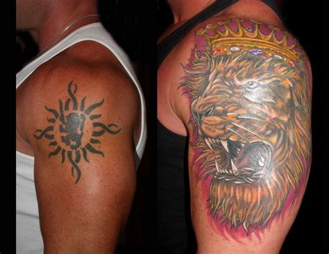 lion tattoo ideas cover up design idea for cover up images designs