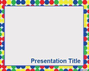 Birthday PowerPoint Template with Garlands Decoration