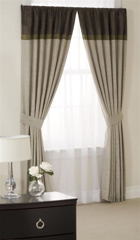 two color curtains two tone curtain home ideas pinterest