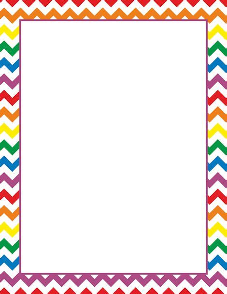 printable paper photo frames printable rainbow chevron border free gif jpg pdf and