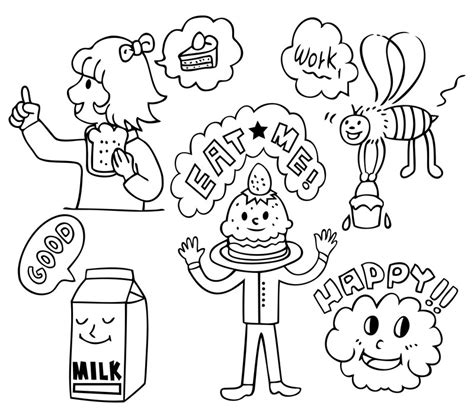 coloring pages of cartoon food free food coloring pages for kids az coloring pages