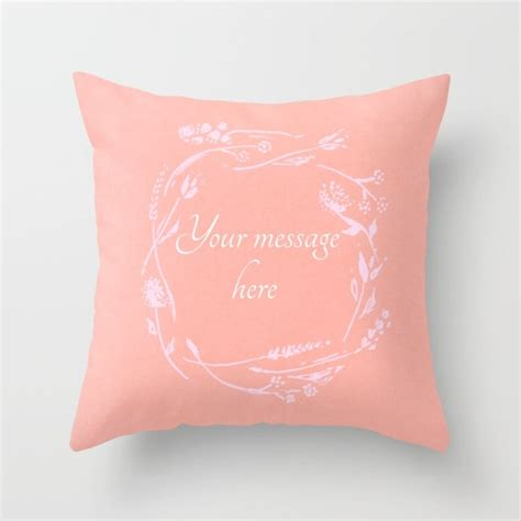 Custom Pillows Etsy by Your Words Custom Throw Pillow Cover Custom Words Pillow