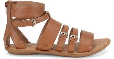born gladiator sandals born leather gladiator sandals in brown lyst