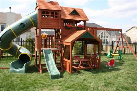 huge swing sets kids playsets for backyard big backyard lexington wood