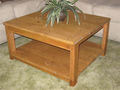 diy plans   square wooden coffee table  wingstoshop