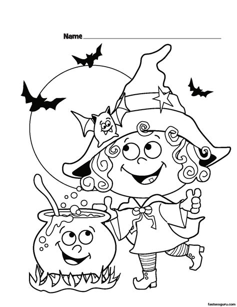 free coloring pages of halloween free printables