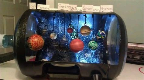 Handmade Solar System - diy solar system project eye screws bouncy balls