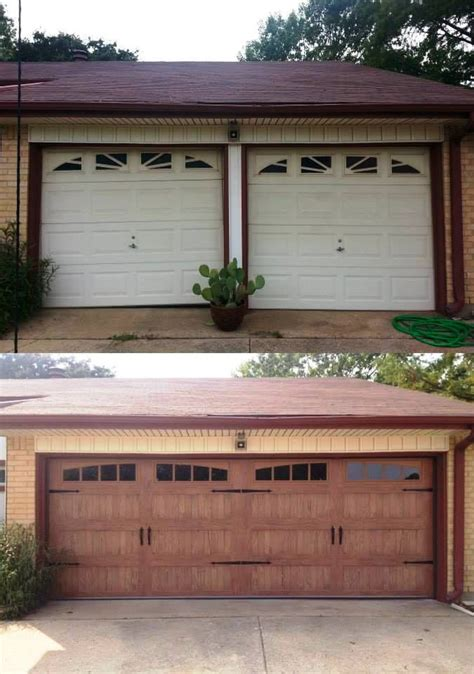 garage distinction what a difference a new c h i garage door makes pictured