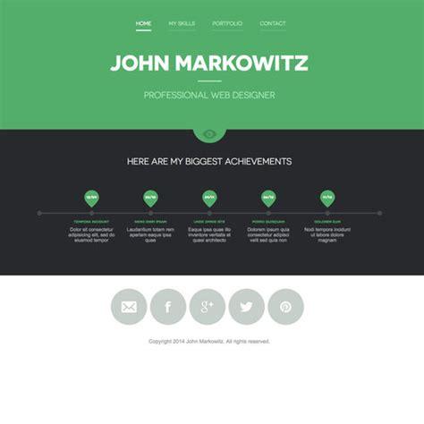 free markowitz responsive portfolio website template