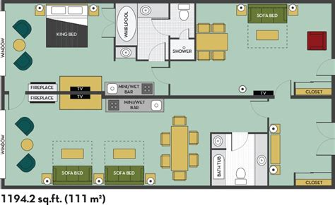 embassy suites floor plan 3 room presidental suite with breakfast floor plan
