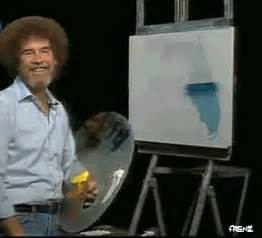 bob ross painting gif bob ross animated gifs by frenz