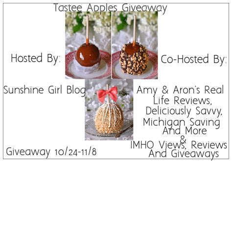 Apple Product Giveaway Real - tastee apple giveaway amy aron s