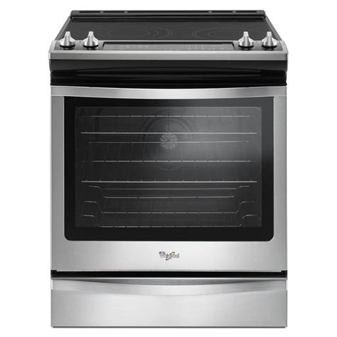 shop whirlpool smooth surface 5 element self cleaning slide in convection electric range