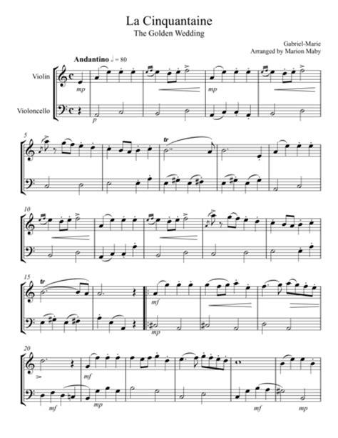Suzuki Duets For Violins Pdf La Cinquantaine For Violin Cello Duet Sheet