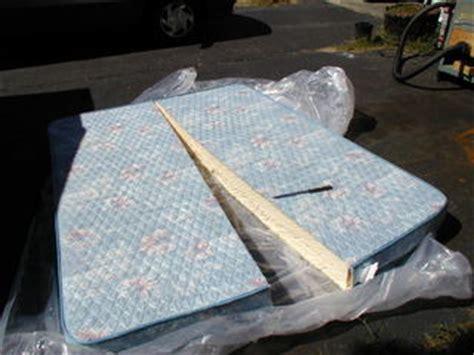 Cutting Up A Mattress cutting a mattress in half school conversion resources
