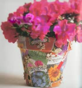 flower pot crafts craft project decoupage flower pot
