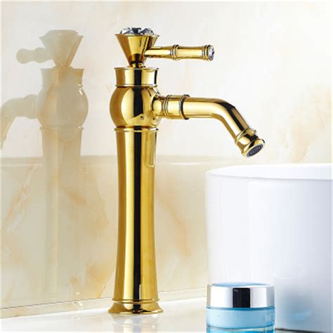 Designer Bathroom Fixtures Free Shipping Modern And Luxury Bathroom Faucets Brass Golden Bathroom Basin Sink Mixer Faucet