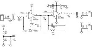 signal buffer lifier low audio signal lifier using ba4560 op with gain adjust circuit ideas i projects i