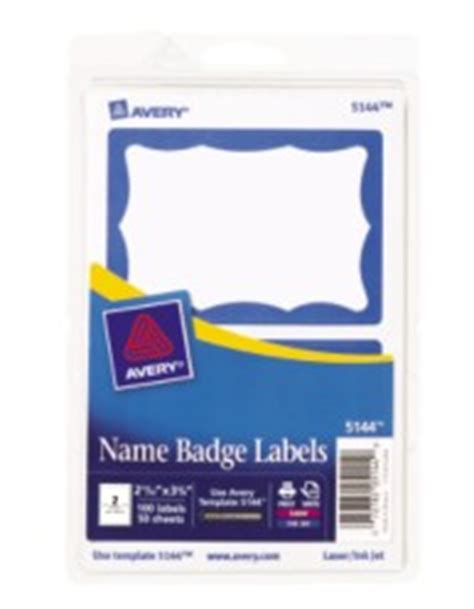 avery template 5144 avery printable adhesive name badges with blue border