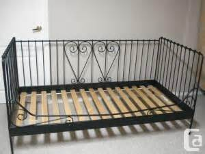 Ikea Metal Daybed Ikea Metal Black Day Bed With Wood Slates Brton For Sale In Toronto Ontario