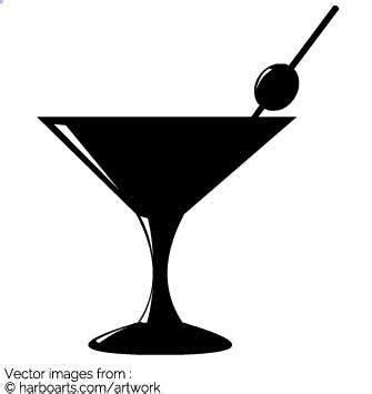 martini shaker silhouette cocktail silhouette clipart