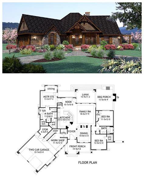craftsman houseplan 65867 has 1848 square feet of living