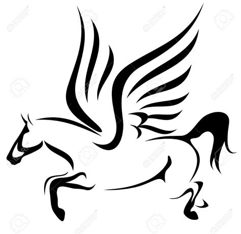 cavallo clipart clipart flying pencil and in color