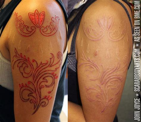 scarred tattoo flesh removal scarification bme piercing and