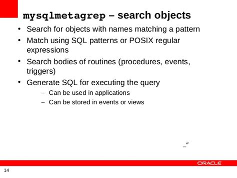 pattern matching sql python utilities for managing mysql databases