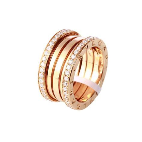 bvlgari bvlgari ring ik pink gold with pave diamonds sale uk bvlgari b zero1 ring pink gold 4 band with pave